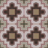 Seamless pattern in soft cocoa hues Stock Images