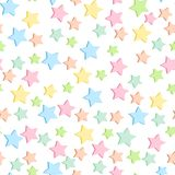Seamless pattern with soft pastel color stars. Cute repeat texture background, vector. Cute repeat texture background, vector vector illustration