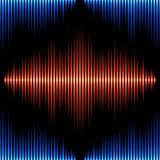 Seamless pattern with sound waveform Stock Photo