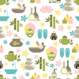 Seamless pattern from Spa of elements Royalty Free Stock Image