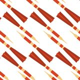 Seamless pattern with space rocket Stock Photography