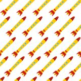 Seamless pattern with space rocket. Stock Image