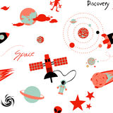 Seamless pattern with space Stock Photos