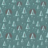 Seamless pattern with space ship. Royalty Free Stock Photos