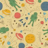Seamless pattern, space vector illustration Stock Images