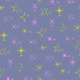 Seamless pattern with sparkles symbols Royalty Free Stock Image