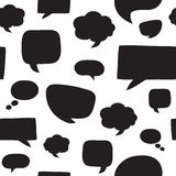 Seamless pattern with speech bubbles. Royalty Free Stock Images