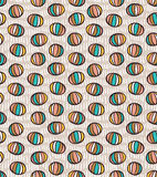 Seamless pattern with spheres Royalty Free Stock Images