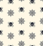 Seamless Pattern Spider and Spider Web Stock Photography