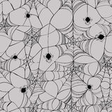 Seamless pattern of spider web. Seamless pattern of black spider web on a grey background Royalty Free Stock Image