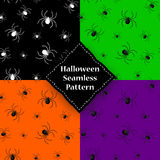 Seamless pattern with spider web on Halloween.  Stock Photo