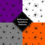 Seamless pattern with spider web on Halloween.  Stock Photos