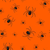 Seamless pattern with spider web on Halloween.  Royalty Free Stock Photos
