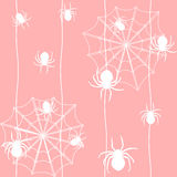Seamless pattern with spiders Stock Photography