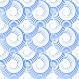 Seamless pattern with spiral circle elements. Royalty Free Stock Photo