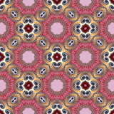 Seamless pattern with spiral and circle ornament. You can use it Stock Image