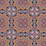 Seamless pattern with spiral and circle ornament. You can use it Royalty Free Stock Images