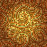Seamless pattern with spiral elements Stock Photo