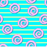 Seamless pattern with spirals Royalty Free Stock Images