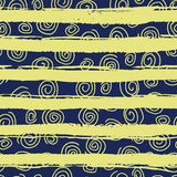Seamless pattern with spirals on background Royalty Free Stock Photo