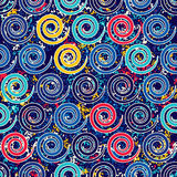 Seamless pattern with spirals Grange complex. Shapes placed on texture. Stock Images