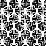 Seamless pattern with spirals,  illustration background Stock Images