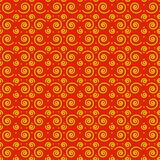Seamless pattern spirals red stock image