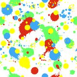Seamless pattern with splashes, blobs and stains. Seamless pattern with colorful splashes, blobs, stains and splatter. Background in modern grunge style Stock Image