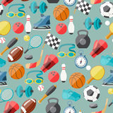 Seamless pattern of sport icons Royalty Free Stock Photography