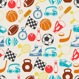 Seamless pattern of sport icons Stock Images