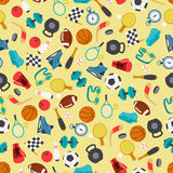 Seamless pattern of sport icons Stock Image