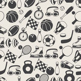 Seamless pattern of sport icons Stock Photos