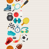 Seamless pattern of sport icons Royalty Free Stock Photos