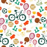 Seamless pattern with sport icons Royalty Free Stock Photos