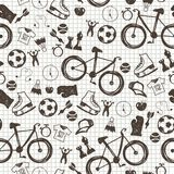 Seamless pattern with sport icons Stock Image