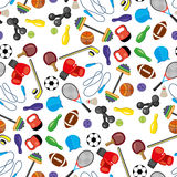 Seamless pattern with sport icons Stock Photography