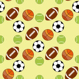 Seamless pattern with sport icons Stock Images
