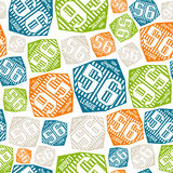 Seamless pattern sport league emblem Royalty Free Stock Photo
