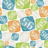 Seamless pattern sport league emblem Royalty Free Stock Photo