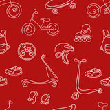 Seamless pattern of sporting goods for kids. Vector Stock Image