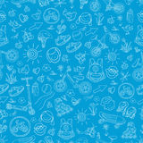 Seamless pattern of sporting goods for kids. Vector Royalty Free Stock Image