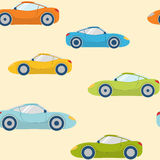 Seamless pattern with sports cars Royalty Free Stock Photography