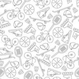 Seamless pattern with  sports equipment. Royalty Free Stock Images