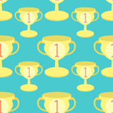 Seamless pattern Sports goblet win first place  vector illustrat. Seamless pattern Sports a goblet win first place . vector illustration Stock Images