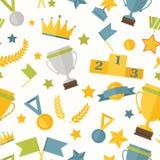 Seamless pattern sports theme Stock Photo