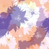 Seamless pattern with spots and butterflies. Royalty Free Stock Photos