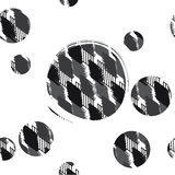 Seamless pattern spotty rhombuses with circle. Abstract backgrou. Vector illustration of seamless pattern spotty rhombuses with circle. Abstract background made Royalty Free Stock Photography