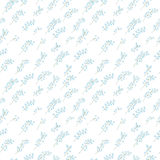 Seamless pattern of sprigs of Lily of the valley on white background. Seamless pattern of sprigs of Lily of the valley on white background Royalty Free Stock Photos