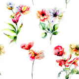 Seamless pattern with spring flowers Stock Image