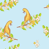 Seamless pattern with spring theme Royalty Free Stock Photos